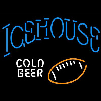 Icehouse Football Cold Beer Sign Neonskylt