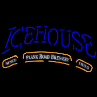 Icehouse Plank Road Brewery Blue Beer Sign Neonskylt