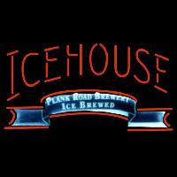 Icehouse Plank Road Brewery Red Beer Sign Neonskylt