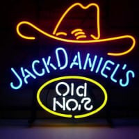 Jack Daniels Old #7 Whiskey Öl Bar Öppet Neonskylt