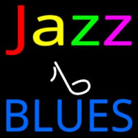 Jazz Music Note Blues Neonskylt