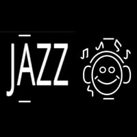 Jazz With Smiley Neonskylt