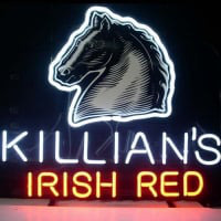 Killians Irish Red . XCAT_LAGER Öl Bar Öppet Neonskylt