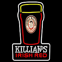 Killians Irish Red Pint Glass Of Beer Sign Neonskylt