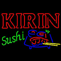 Kirin Beer And Sushi Beer Sign Neonskylt