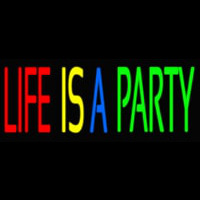 Life Is A Party 2 Neonskylt