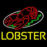 Lobster Block With Logo Neonskylt