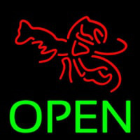 Lobster Open 1 Neonskylt