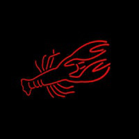 Lobster Red Logo Neonskylt