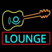 Lounge With Guitar  Neonskylt