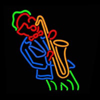 Man Playing Saxophone Neonskylt
