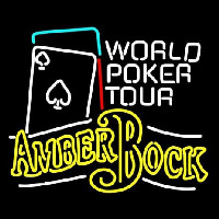 Michelob Amber Bock World Poker Tour Neonskylt