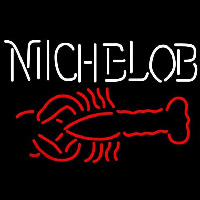 Michelob Lobster Beer Sign Neonskylt