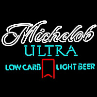 Michelob Ultra Light Low Carb Red Ribbon Neonskylt
