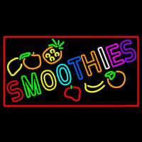 Multi Colored Double Stroke Smoothies Neonskylt