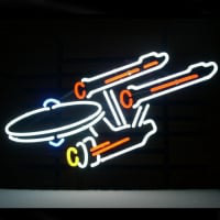 New Star Trek Enterprise Space Ship Neon Öl Bar Pub Skylt