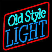 Old Style Light Beer Sign Neonskylt