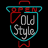 Old Style OPEN Beer Sign Neonskylt