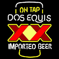 On Tap Dos Equis Beer Sign Neonskylt