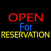 Open For Reservation 1 Neonskylt