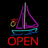 Open Sailboat Neonskylt