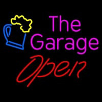 Open The Garage Neonskylt