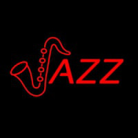 Orange Jazz Logo Neonskylt