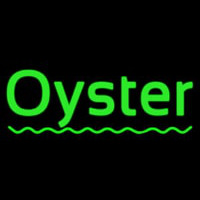 Oysters Green Line Neonskylt