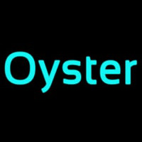 Oysters Turquoise Neonskylt