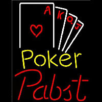 Pabst Poker Ace Series Beer Sign Neonskylt