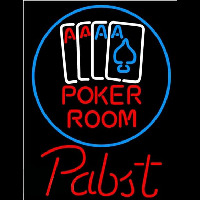 Pabst Poker Room Beer Sign Neonskylt