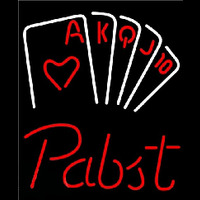Pabst Poker Series Beer Sign Neonskylt