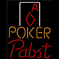Pabst Poker Squver Ace Beer Sign Neonskylt
