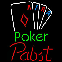 Pabst Poker Tournament Beer Sign Neonskylt