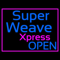 Pink Border Super Weave Xpress Open Neonskylt