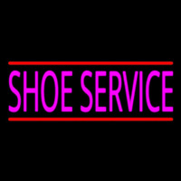 Pink Shoe Service With Line Neonskylt