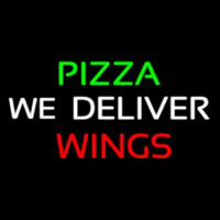 Pizza We Deliver Wings Neonskylt