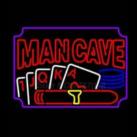 Poker Cigar Man Cave Neonskylt
