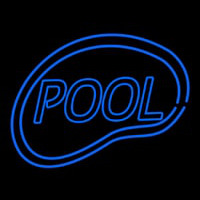 Pool Swimming Neonskylt