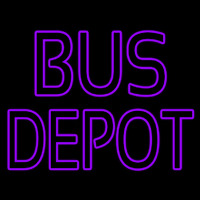 Purple Bus Depot Neonskylt