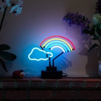 Rainbow Cloud Desktop Neonskylt