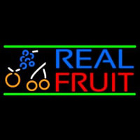 Real Fruit Smoothies Neonskylt