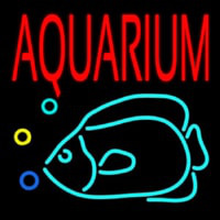 Red Aquarium Fish Logo Neonskylt