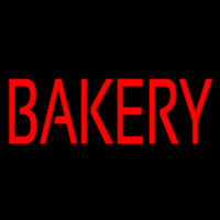 Red Bakery Neonskylt