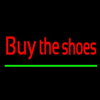 Red Buy The Shoes Neonskylt