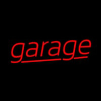 Red Cursive Garage Neonskylt