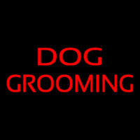 Red Dog Grooming Neonskylt