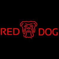 Red Dog Head Logo Beer Sign Neonskylt