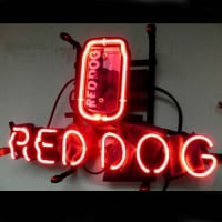 Red Dog Öl Bar Neonskylt