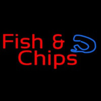 Red Fish And Chips Neonskylt